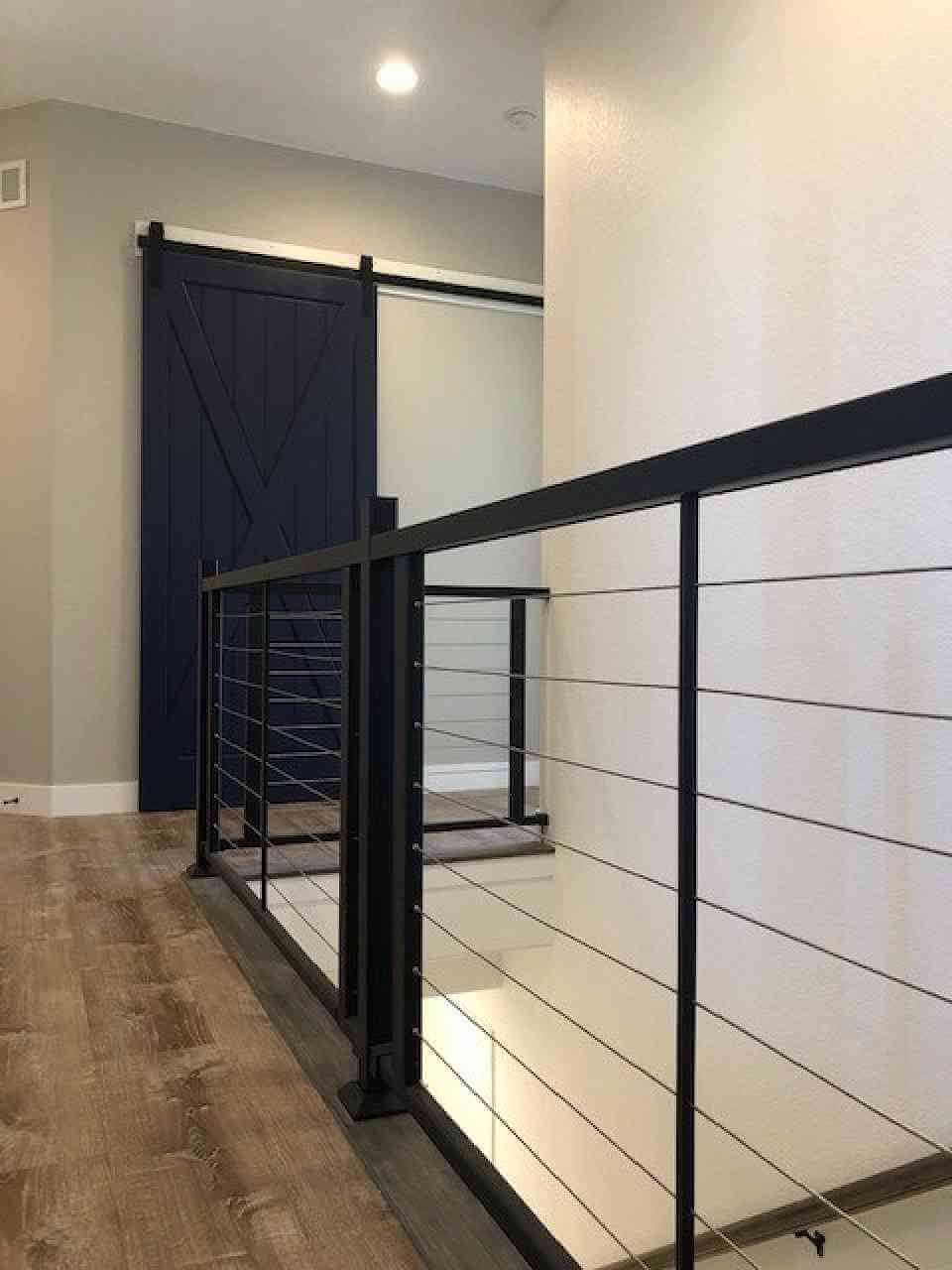 Stair Railing and Laundry Room Barn Door
