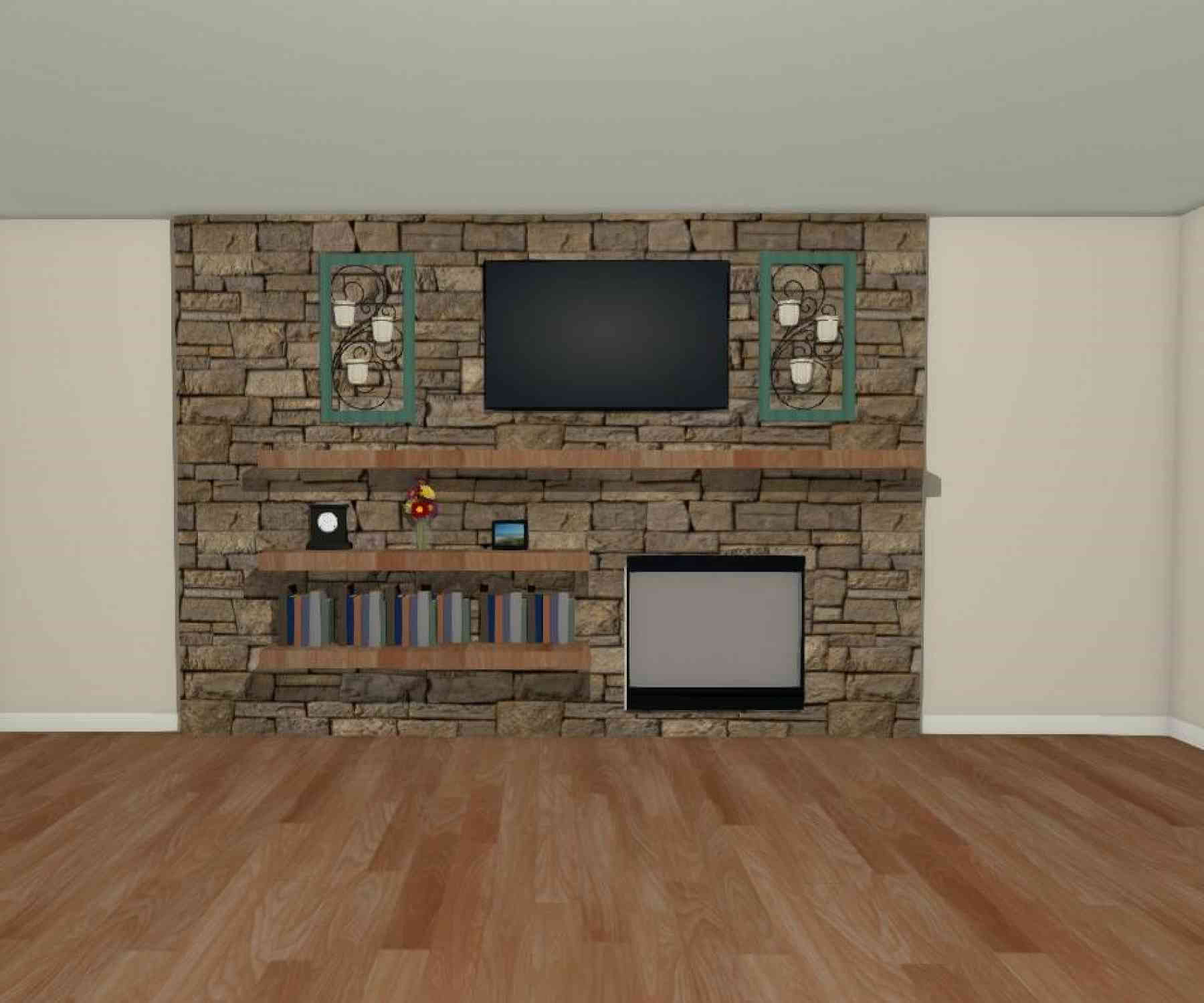The Fireplace Wall Rendering